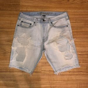 American Eagle Distress Denim Shorts.
